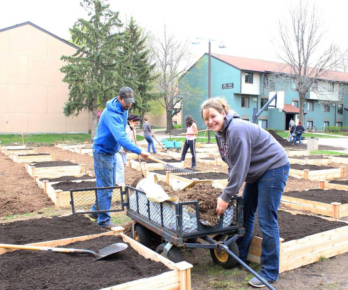 Residents Creating Garden